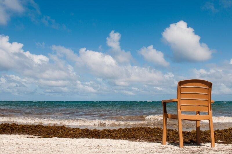 Chair at Vieux Fort Beach