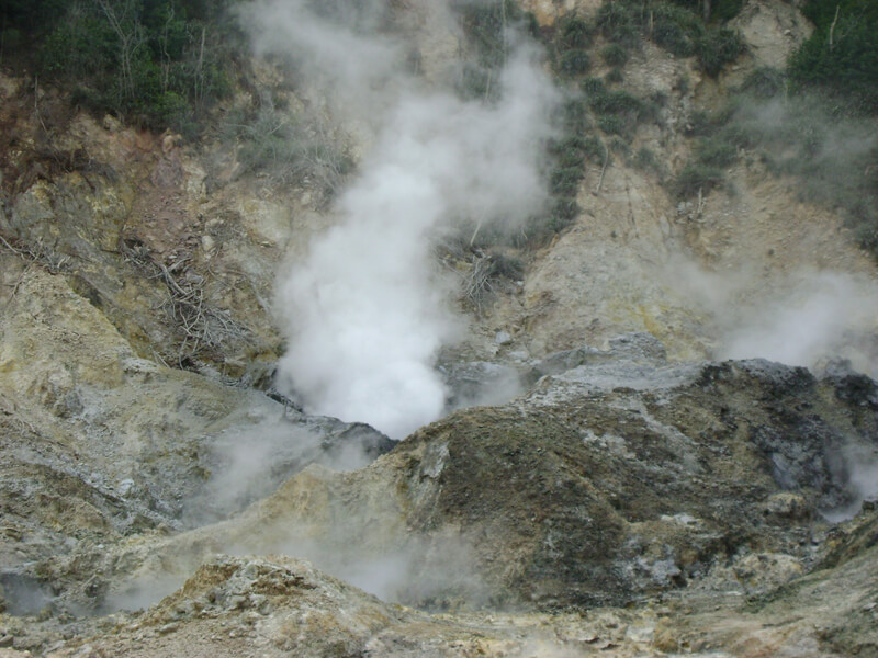 Sulphur Springs volcano in Saint Lucia